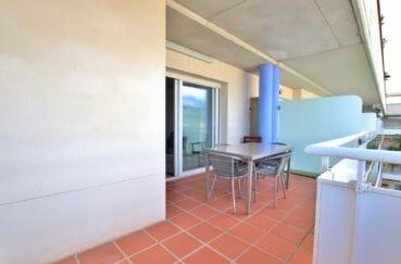 vente appartement espagne rosas, standing, terrasse de 15 m² accès salon