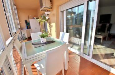 vente immobilière rosas: appartement 78 m², belle terrasse de 14 m²