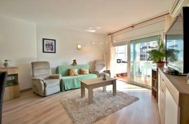 immo center roses: appartement 78 m², salon/séjour accès terrasse