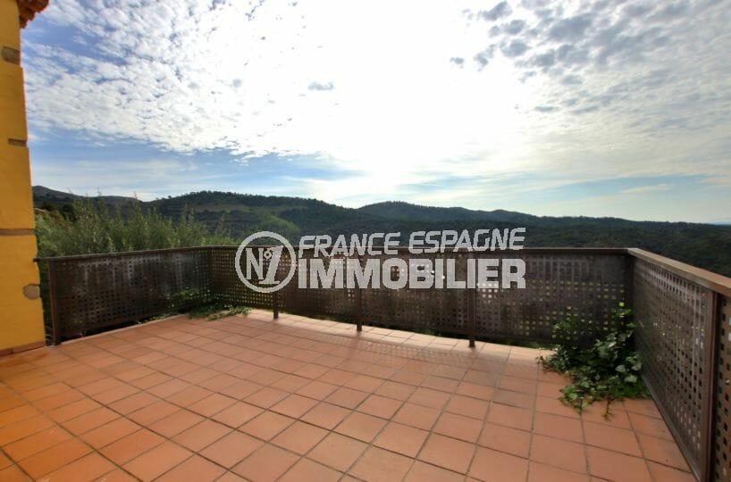 vente immobiliere rosas espagne: villa 154 m², aperçu de la terrasse avec vue dégagée