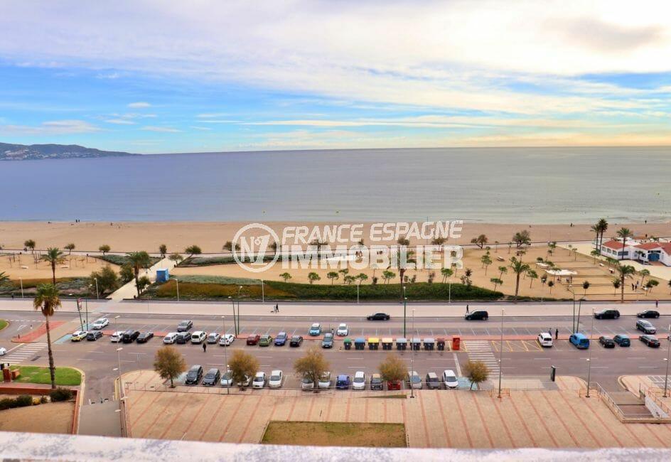appartement empuria brava, studio 33 m², vue imprenable sur la mer, plage à 100 m