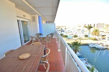 vente appartements rosas espagne, terrasse atico, coin détente vue marina imprenable