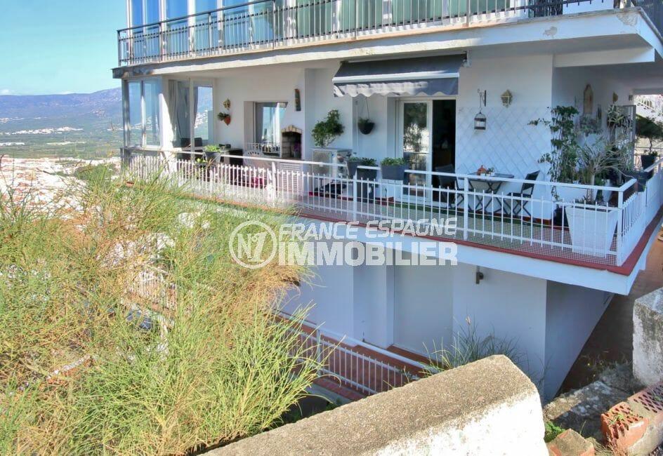 la costa brava: appartement 72 m², terrace d'angle 23 m² avec vue mer/montagne