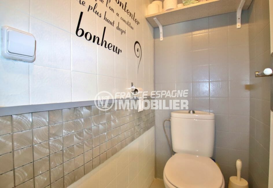 rosas immobilier: appartement 78 m², avec wc indépendant