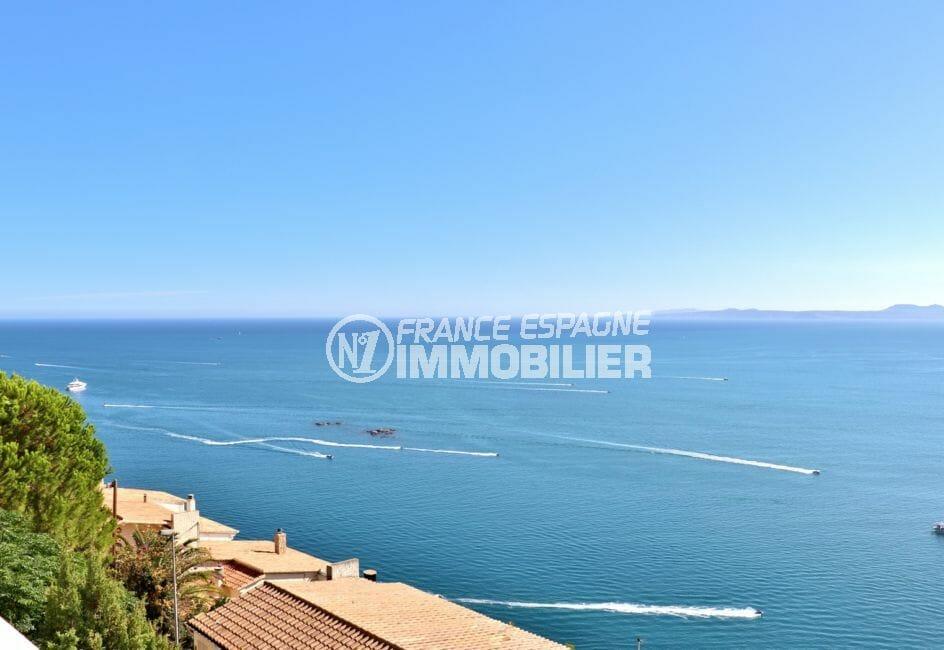 agence immobiliere costa brava: appartement 67 m², splendide vue de la mer depuis la terrasse