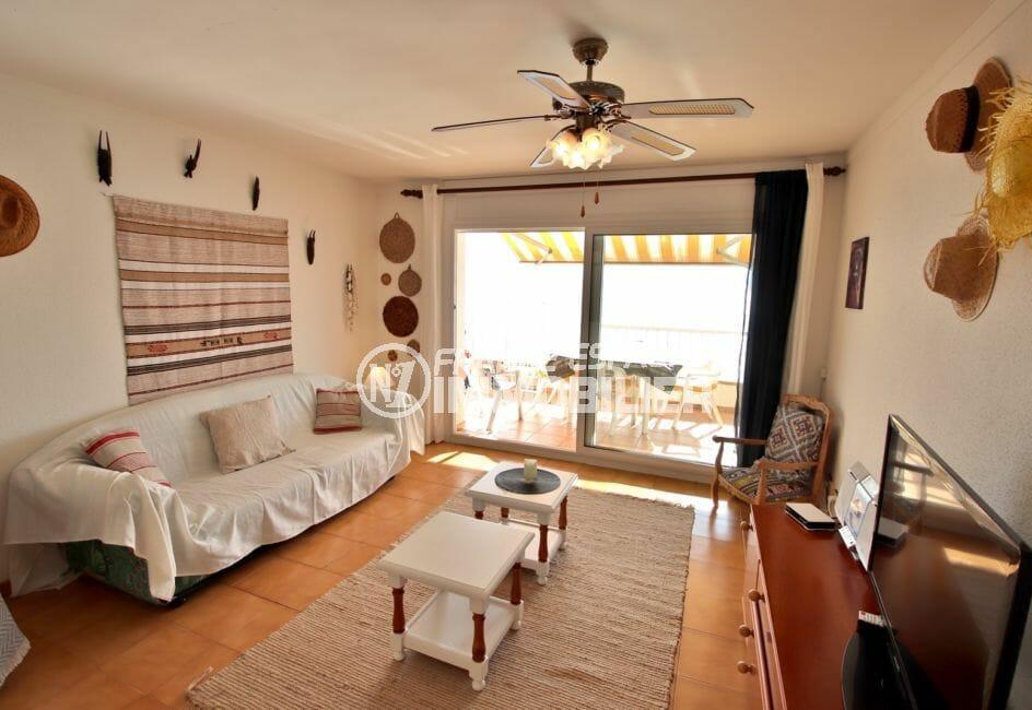 achat appartement rosas, possibilité garage, salon /séjour accès terrasse