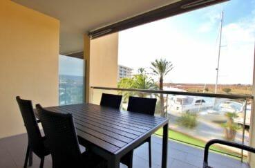 Appartement terrasse vue canal, résidence standing 4070