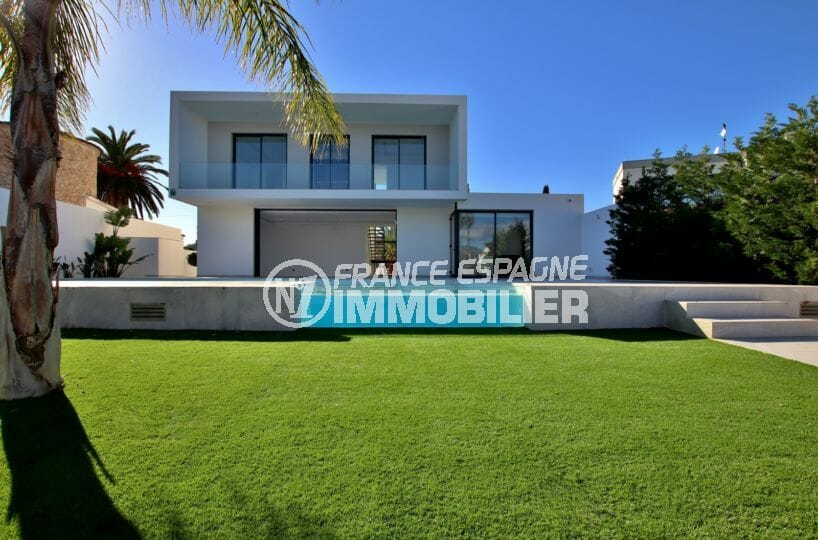 immo empuriabrava:  magniifique villa 334 m² avec amarre 19 m, grand canal, expo sud, piscine, garage