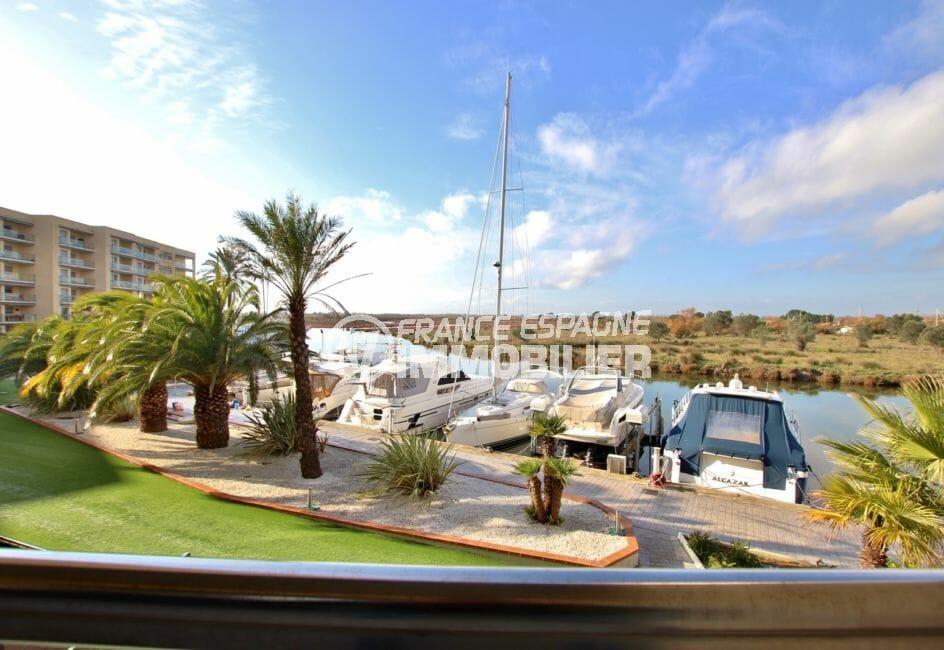appartement a vendre rosas: appartement 87 m², vue sur canal, terrasse 11 m²