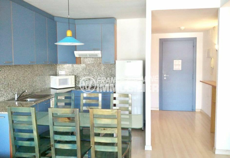 appartements a vendre costa brava: appartement 67 m², belle cuisine aménagée
