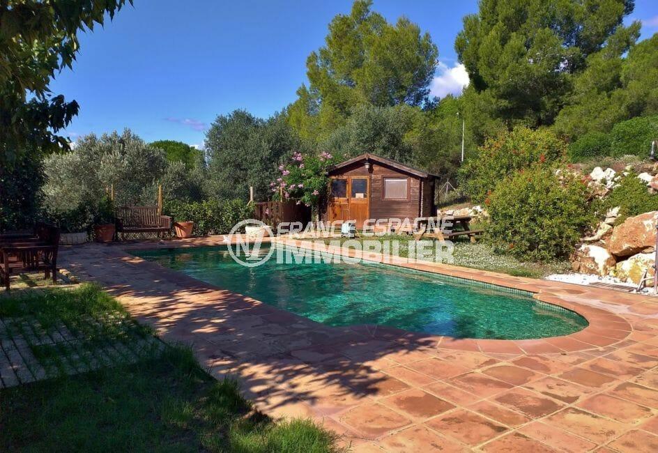 la costa brava, villa 280 m², terrain 5678 m² avec piscine au sel 8 m x 4 m