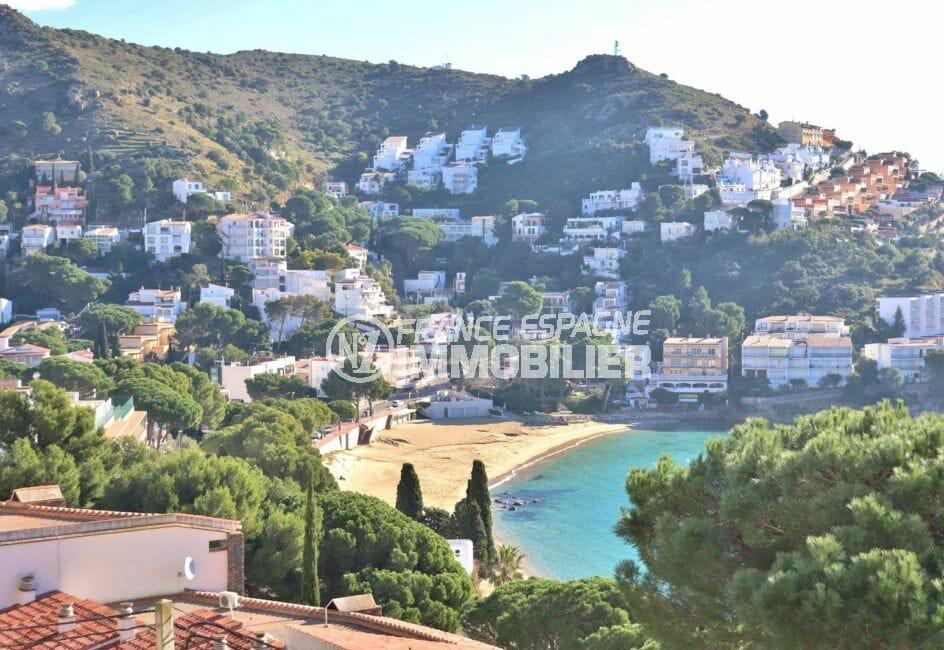 vente appartement rosas canyelles, 50 m², magnifique vue sur la mer depuis la terrasse