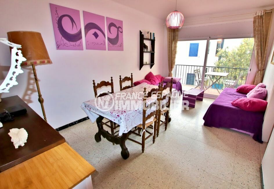 appartement a vendre rosas, 5 pièces, salon/séjour avec terrasse, exposition sud