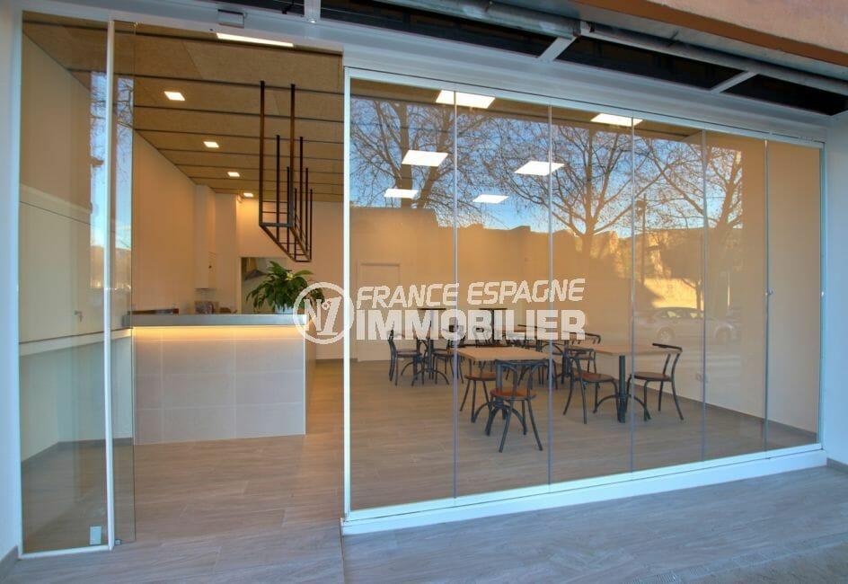 agence immobiliere costa brava: local commercial, restaurant tout équipé 30 couverts