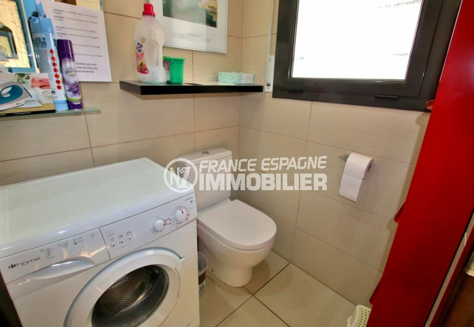 achat maison espagne costa brava, 171 m², wc indépendant avec arrivée d'eau pour lave linge
