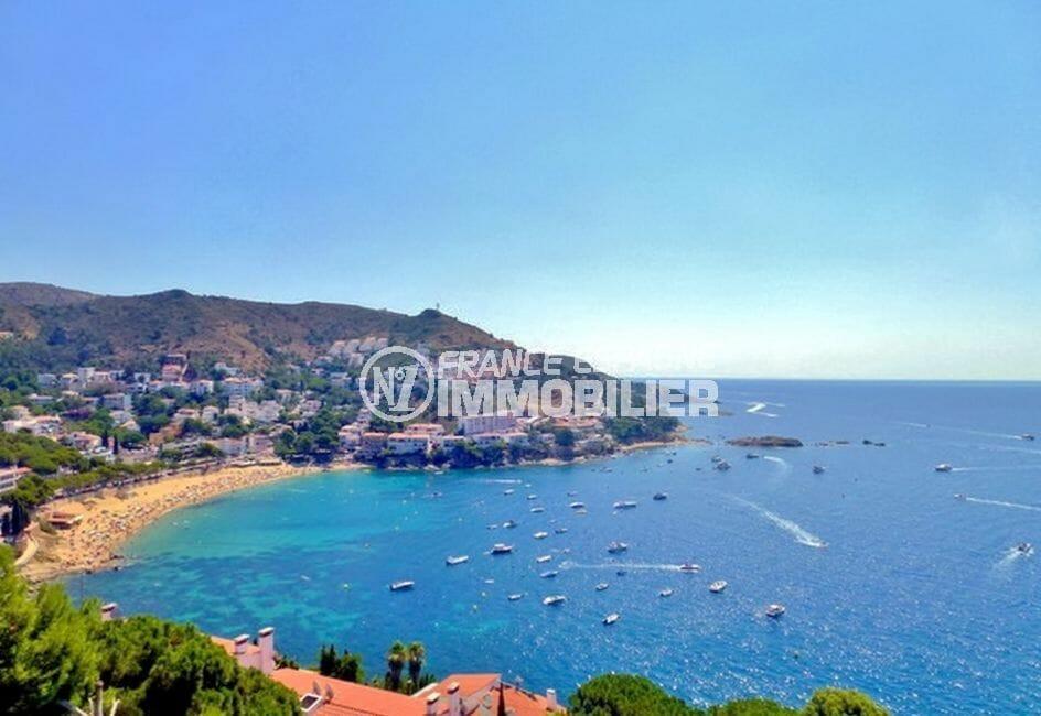 maison a vendre a rosas, 140 m² grande terrasse avec une magnifique vue sur la mer