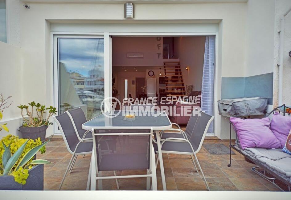 vente maison avec amarre empuriabrava, 96 m² avec accès terrasse du salon