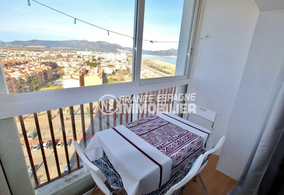 vente appartement empuriabrava, terrasse veranda, exposition sud-est
