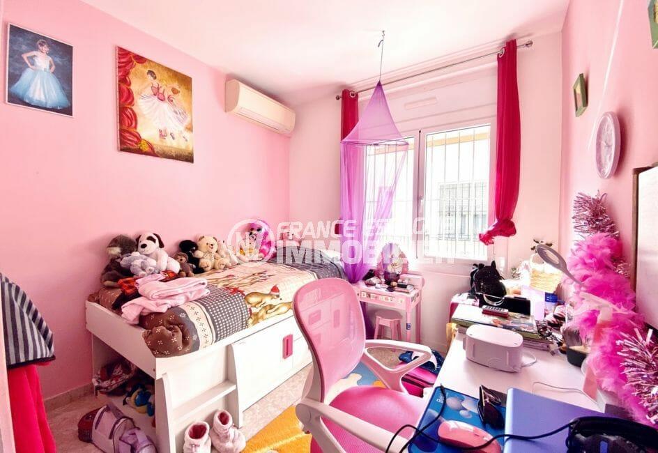 vente immobilier costa brava: villa 136 m², 3° chambre avec climatisation, exposition sud