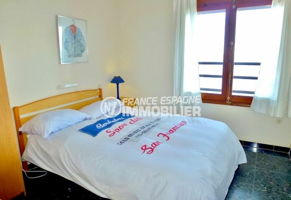 vente immobiliere espagne: villa 140 m², deuxième chambre avec lit double
