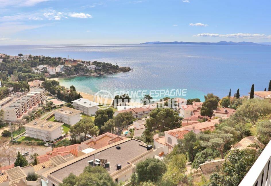 immo roses: exceptionnelle villa 4 pièces 100 m² avec terrasse solarium 19 m² vue mer, terrain 130 m², plage 600 m