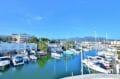 vente appartement rosas, 32 m² avec amarre privé, terrasse vue canal, proche plage