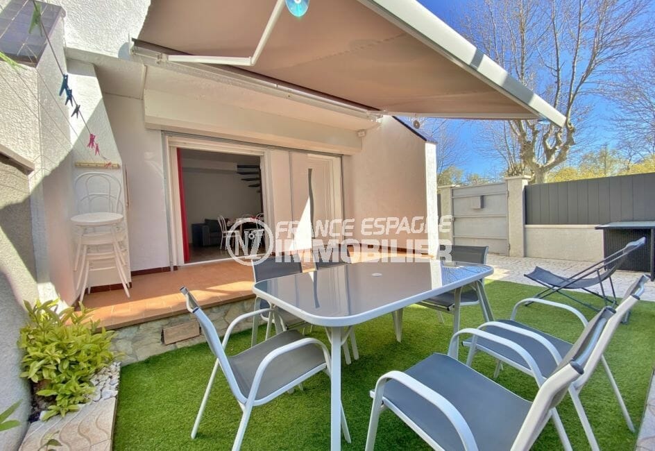 maison empuriabrava, 3 pièces 48 m² avec terrasse couverte de 10 m² et jardin