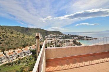 maison a vendre espagne costa brava, villa 4 pièces 100 m², terrasse solarium 19 m² vue mer