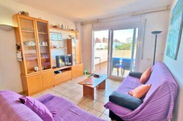 acheter appartement costa brava, 4 pièces 69 m², séjour avec terrasse