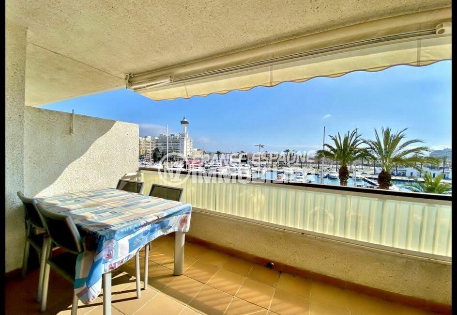 immo empuriabrava: vente appartement 69 m², belle terrasse avec auvent