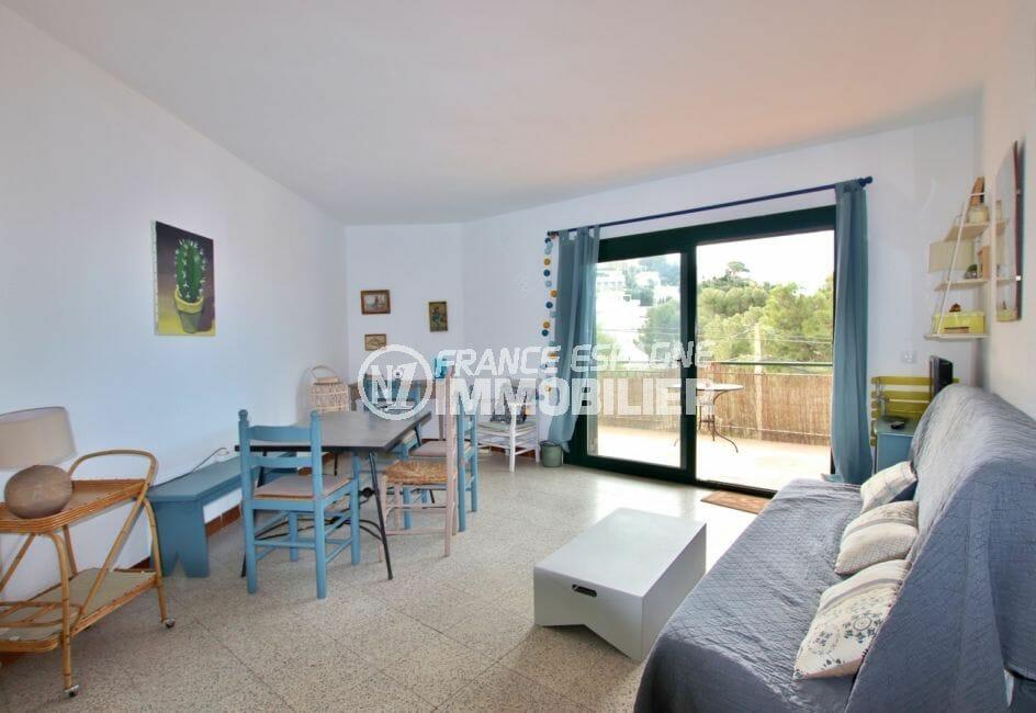 achat appartement rosas, 72 m² avec salon / séjour accès terrasse de 20 m²