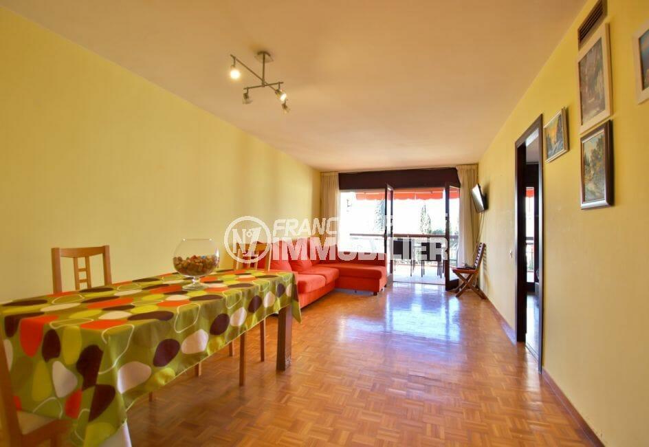 appartements a vendre a rosas, 5 pièces 108 m², salon / salle à manger avec terrasse