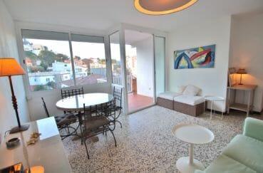 appartements a vendre a rosas, 81 m², salle à manger lumineuse, exposition sud-est