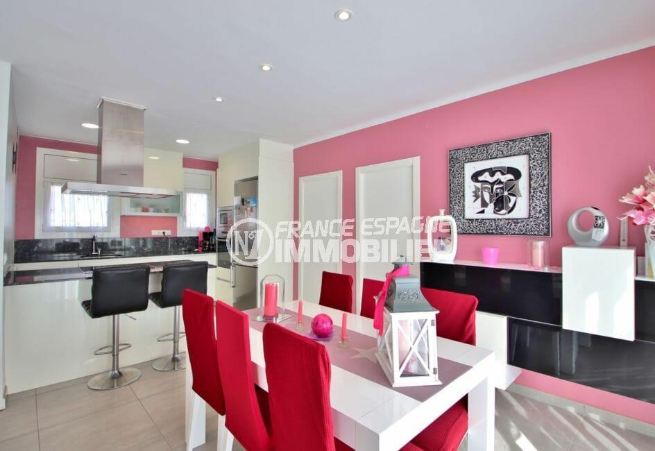 appartements a vendre a rosas: pièce à vivre + 3 chambres, 74 m², cuisine américaine