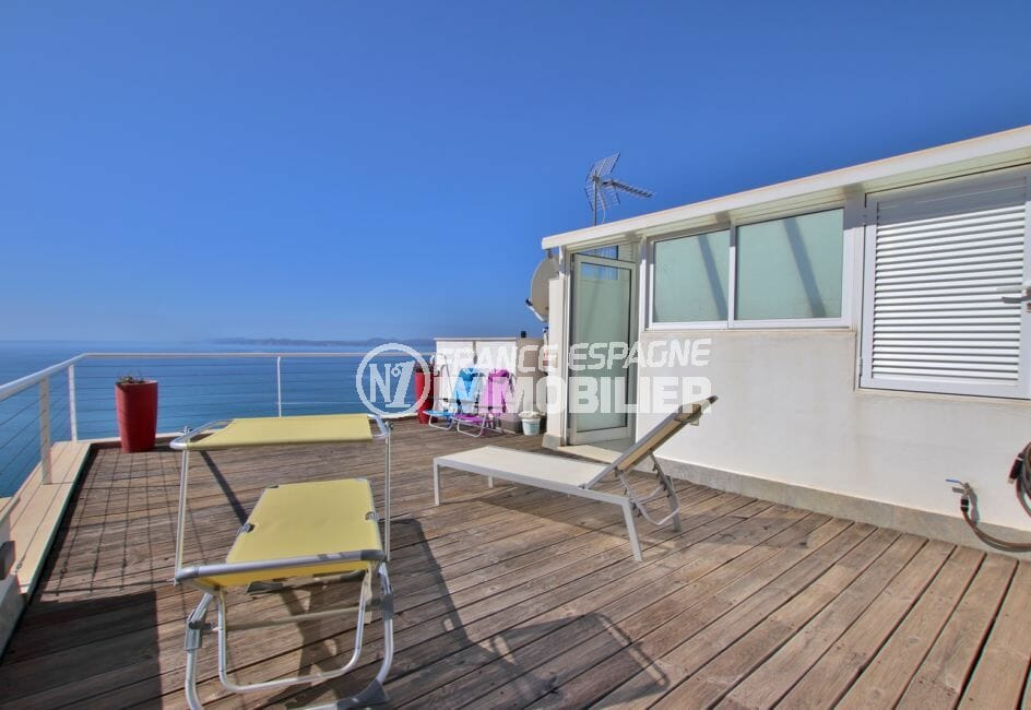 vente maison rosas espagne, 255 m² avec terrasse solarium de 29 m², vue mer
