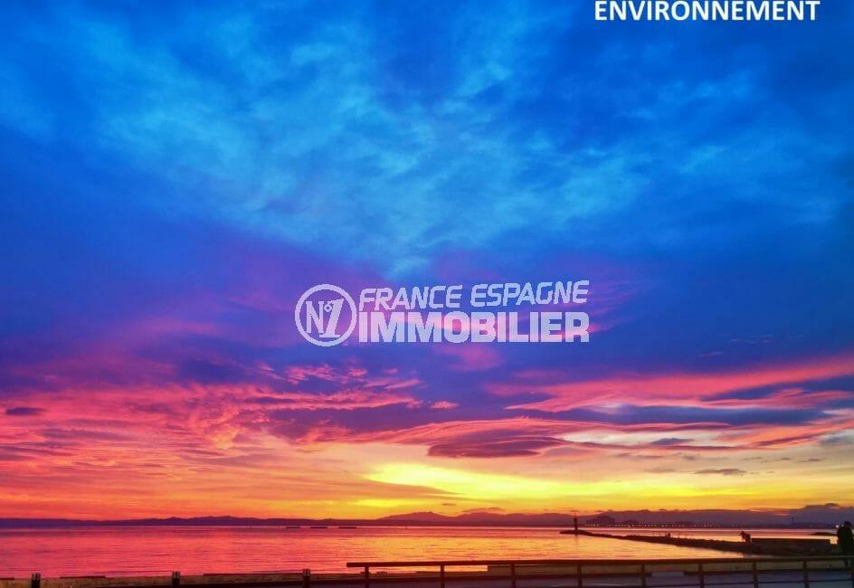 achat immobilier roses: terrain constructible de 400 m², magnifique coucher de soleil