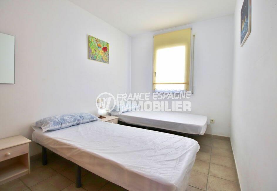acheter appartement costa brava, 4 pièces 69 m², 2° chambre lumineuse, 2 lits simples