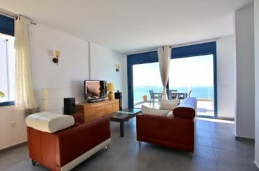 maison a vendre espagne rosas, 255 m², salon avec terrasse solarium, vue mer