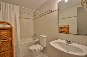 appartement à vendre à rosas espagne, 43 m², salle de bain avec baignoire et wc