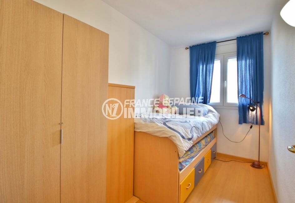 vente appartements rosas espagne, 98 m², 3° chambre avec lit gigogne enfant