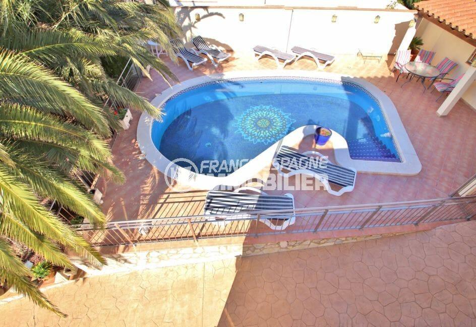 immo center roses: villa 294 m² en 3 appartements avec piscine, piscine privée au sel