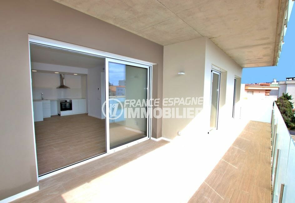 vente appartement rosas, appartement 72 m², 2 ou 3 chambres, terrasse, parking, 300 m de la plage