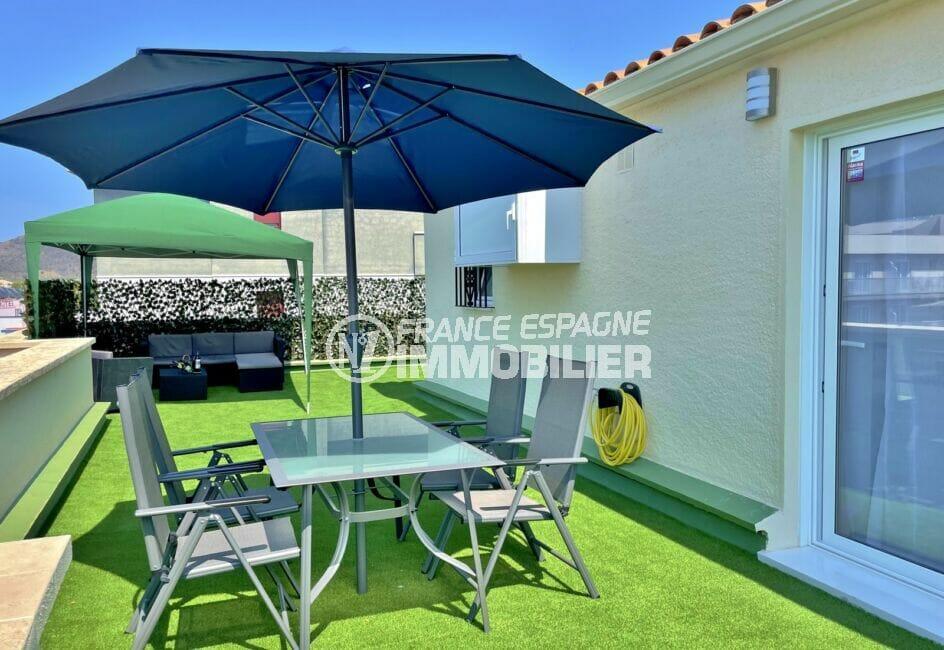 appartement a vendre rosas, 4 pièces 65 m², terrasse solarium de 130 m² avec vue mer