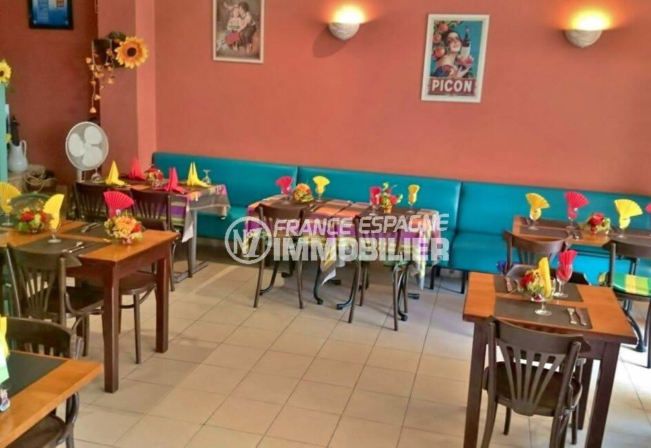 roses espagne: commerce restaurant 141 m², restaurant avec licence terrasse, centre ville de roses, proche plage