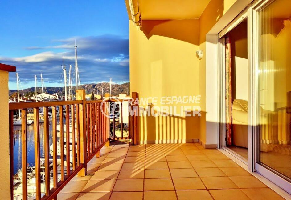 empuria immo: appartement 3 pièces 93 m², terrasse de 10 m² avec vue canal