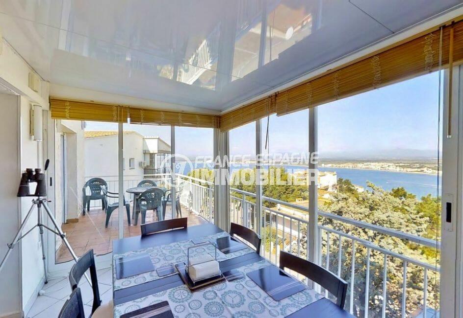 achat maison roses espagne, 4 pièces 119 m², véranda avec vue sur la mer et les montagnes