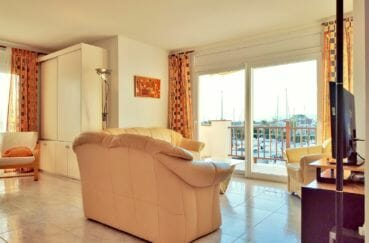 acheter un appartement a empuriabrava, 3 pièces 93 m², salon avec accès terrasse