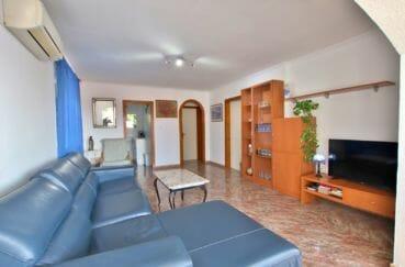 immo costa brava: villa 2 chambres 84 m² solarium, salon avec climatisation