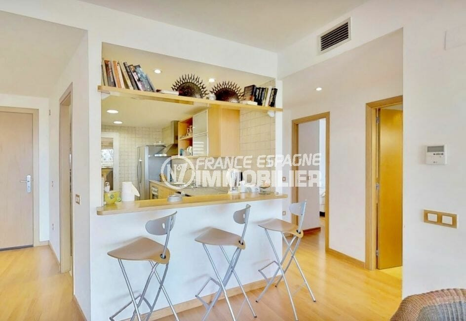 appartement à vendre à rosas espagne, 5 pièces 136 m², cuisine américaine aménagée
