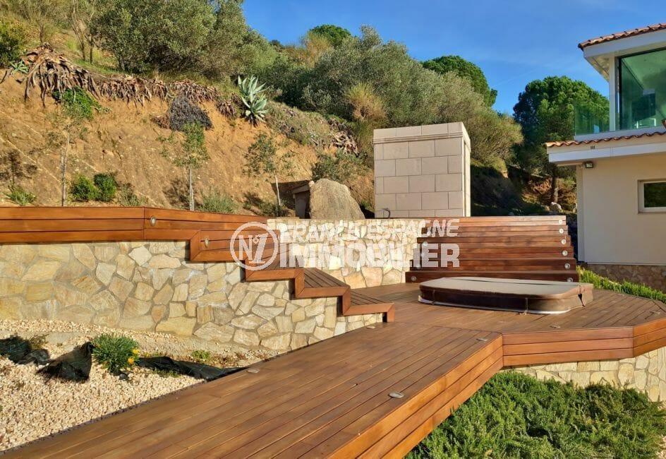 achat villa costa brava, villa de 480 m², terrain de 2 012 m², vue panoramique, bahia de roses